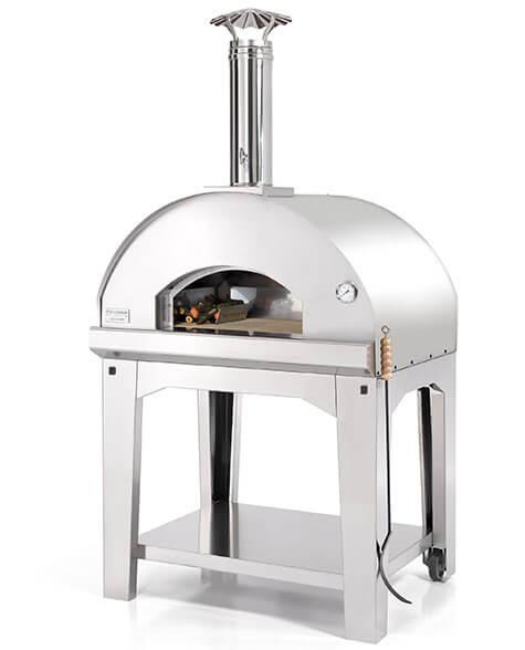 Gut isolierter, leichter Pizzaofen mit offenen Holzfeuer für Draußen